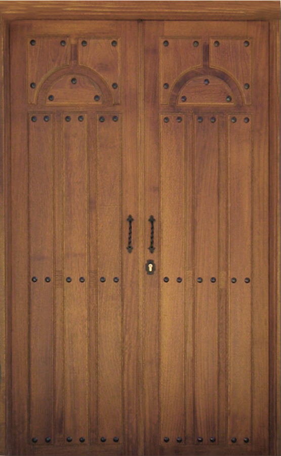 Puertas de entrada de madera rusticas se trata de un for Puertas dobles de madera