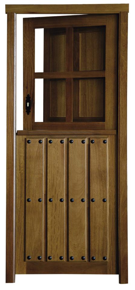 Puerta rustica partida con ventana puertas pinterest - Puertas rusticas de madera ...