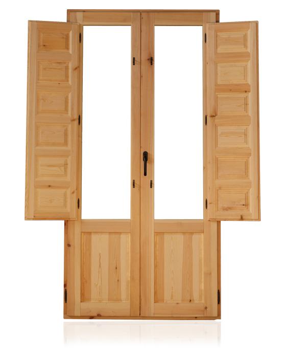 Balcones europeos de madera puertas alberto cano for Puertas balcon usadas