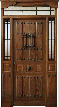 Puertas rustica de clavos 3 tablas con montante y 2 fijos - Puerta rustica exterior ...
