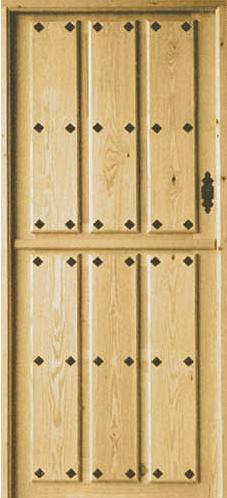Puertas de calle rustica de clavos partida puertas for Puertas de calle rusticas