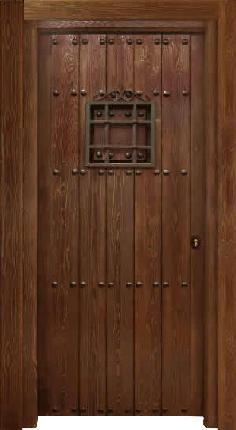 Puertas de calle rustica de clavos tabla junta y for Puertas rusticas de interior baratas