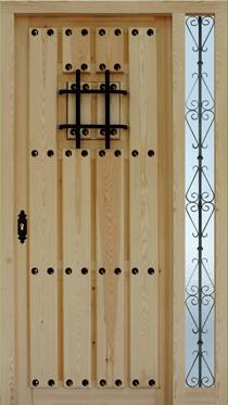 Puertas de calle rustica de clavos tabla separada con 1 - Puertas en valera de abajo ...