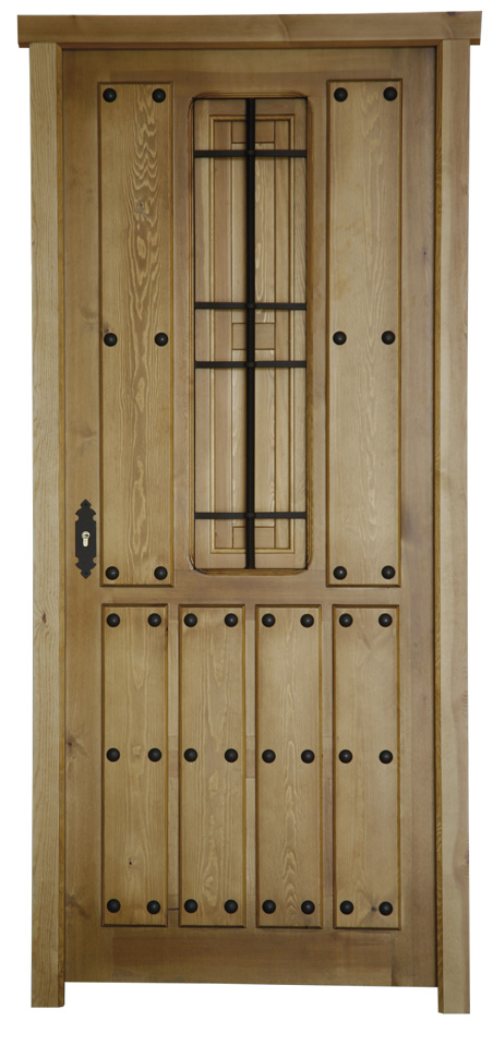 Puertas de calle rusticas puertas alberto cano for Precio puerta madera maciza