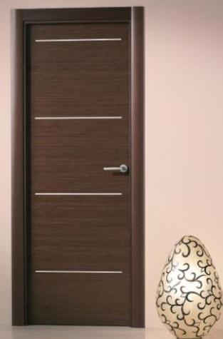 Puertas de interior modernas puertas alberto cano for Puertas color wengue