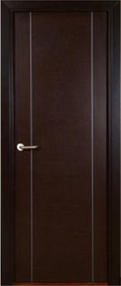 Puerta de wengue modelo h 2 grecas aluminio 270 for Puertas color wengue