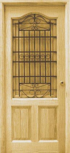 Puerta de calle provenzal dos tableros con ventana y - Puertas de calle de madera ...